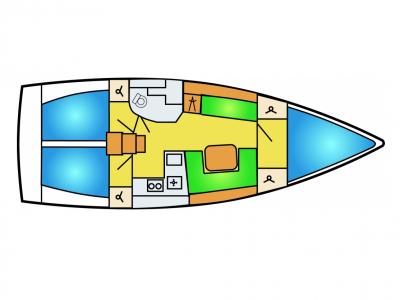 Hanse 385 zeilboot huren